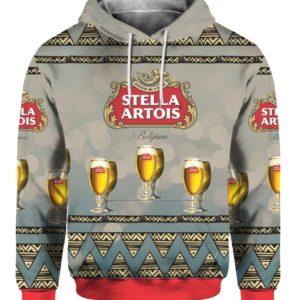 Stella Artois Beer 3D Print Ugly Christmas Sweater, Hoodie