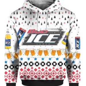 Bud Ice Beer 3D Print Ugly Christmas Sweater