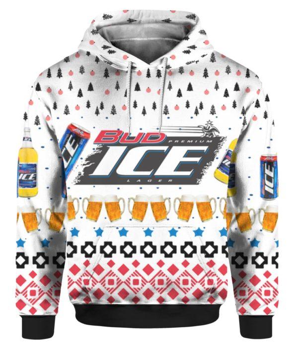 Bud Ice Beer 3D Print Ugly Christmas Sweater