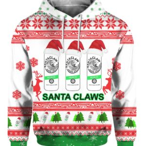 Santa Claws White Claw Ugly Christmas Sweater 3D