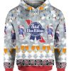 Pabst Blue Ribbon Beer 3D Print Ugly Christmas Sweater