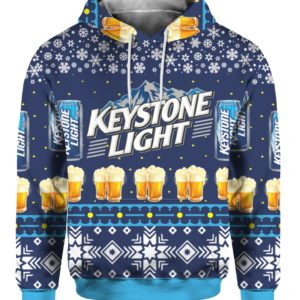 Keystone Light Beer 3D Print Ugly Christmas Sweater