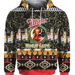 Miller High Life Beer 3D Print Ugly Christmas