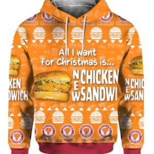 New Chicken Sandwich Louisiana Popeyes 3D Print Ugly Christmas Sweater