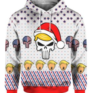 Trump Punisher 3D Print Ugly Christmas Sweater