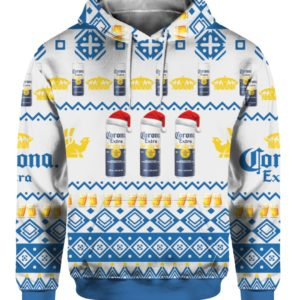 Corona Extra Beer Cans 3D Print Ugly Christmas Sweater