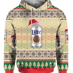 Miller Lite Beer 3D Print Ugly Christmas Sweater