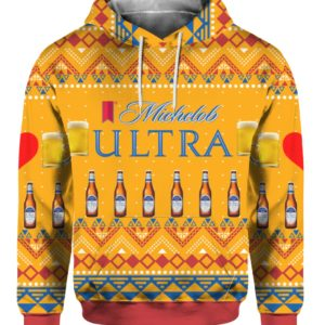 Michelob Ultra Beer Can 3D Print Ugly Christmas Sweater, Hoodie