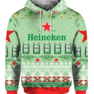 Heineken Beer 3D Print Ugly Christmas Sweater, Hoodie