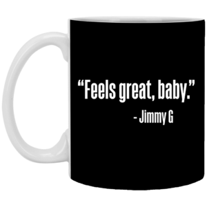 Feels Great Baby Jimmy G George Kittle Mug, Necklace