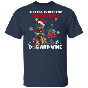 All i really need for christmas dog and wine christmas