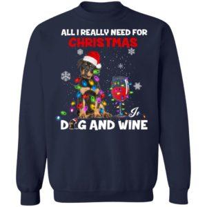 All i really need for christmas dog and wine christmas sweater