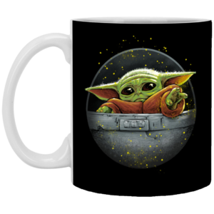 Cute Force - Mandalorian Baby Yoda Mug, Necklace