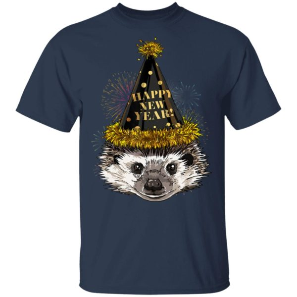 Hedgehog Happy New Year 2020 New Years Eve Party T-Shirt