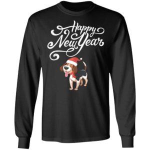 Happy New Year Cute Beagle Dog Santa Hat Funny Pajama