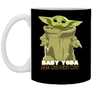 Baby Yoda The Mandalorian - Size Matters Not Mug, Necklace