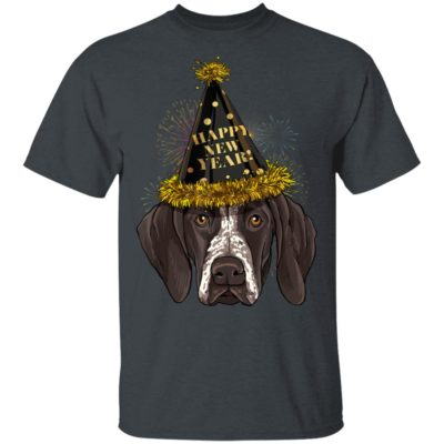 German Shorthaired Pointer Dog Happy New Year 2020 T-Shirt