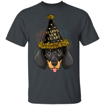 Dachshund Happy New Year 2020 Shirt Long Sleeve Hoodie