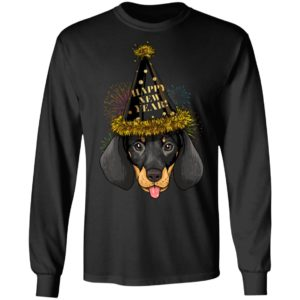 Dachshund Happy New Year 2020 Shirt Long Sleeve Hoodie