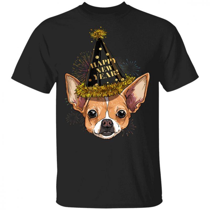 Chihuahua Happy New Year 2020 Dog HPNY Shirt Hoodie Long sleeve