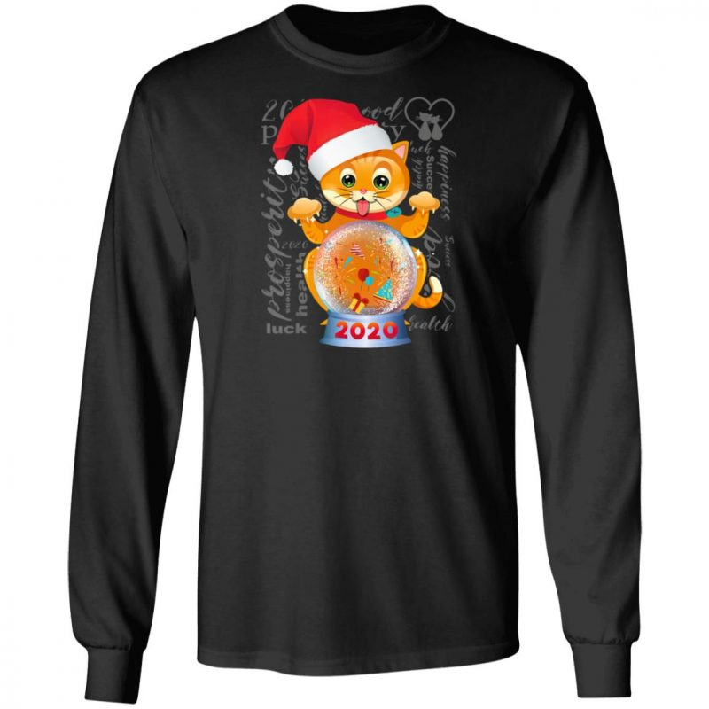 Cat Wishes Happy New Year 2020 T-Shirt