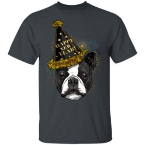 Boston Terrier Happy New Year 2020 Dog HPNY Shirt Long sleeve Hoodie