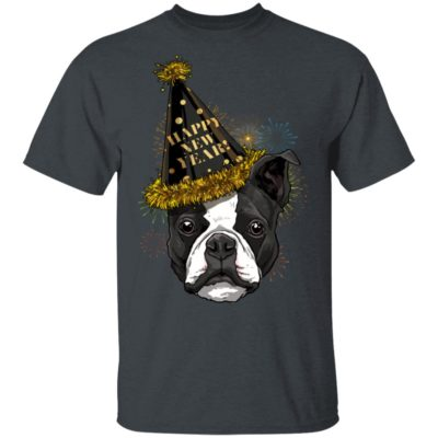 Boston Terrier Happy New Year 2020 Dog HPNY Shirt Long sleeve Hoodie