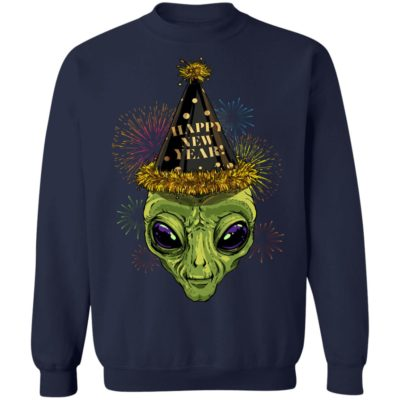 Alien Happy New Year 2020 Shirt Long sleeve Hoodie
