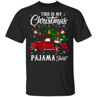 This Is My Christmas Pajama Dachshund Dog Shirt Long Sleeve Hoodie