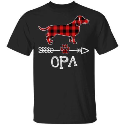 Opa Dachshund Dog Matching Family Pajama Shirt Long Sleeve Hoodie