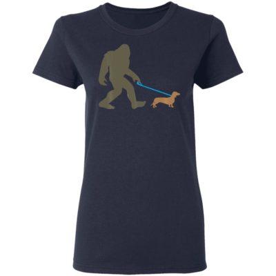 Bigfoot Walking Dachshund Sasquatch Doxie Dog Shirt