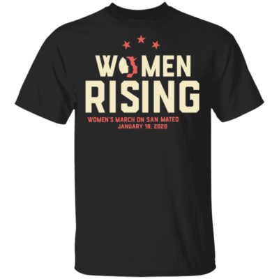 Women March 2020 SAN MATEO Rising Shirt Long Sleeve Hoodie