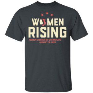 Women March 2020 SACRAMENTO Rising Shirt Long Sleeve Hoodie