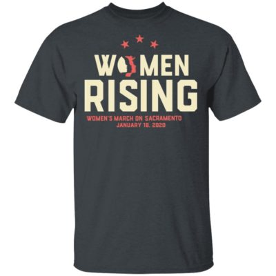 Women March 2020 SACRAMENTO Rising Shirt Long Sleeve Hoodie