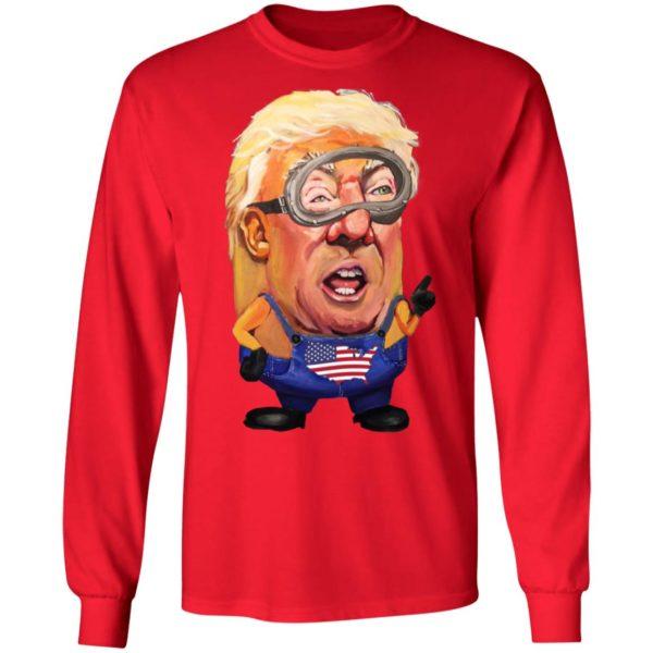 Donald Trump Minion President Shirt Long Sleeve Hoodie