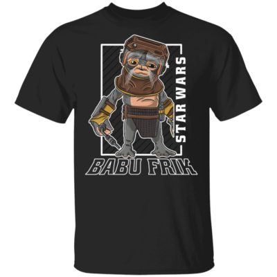 Star Wars Rise Of Skywalker Babu Frik Portrait Shirt