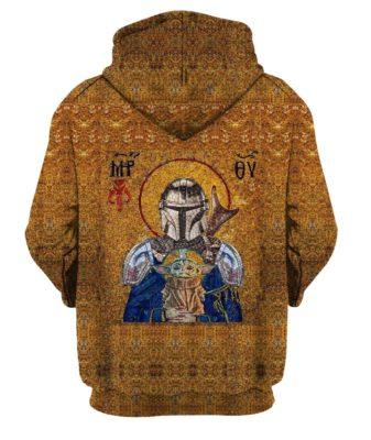 Holy Mando and Child Baby Yoda 3D hoodie