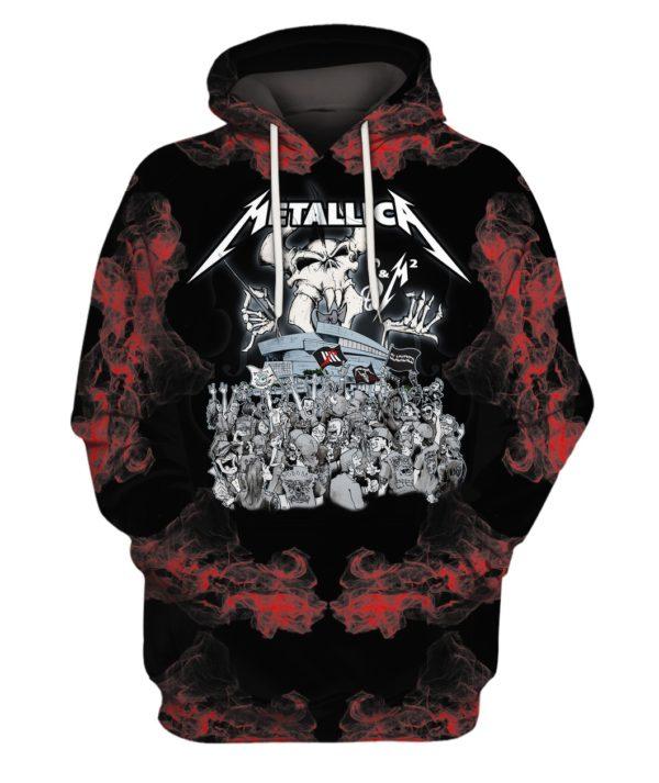 Metallica Rock Band 3D Print Hoodie Sweater Shirt