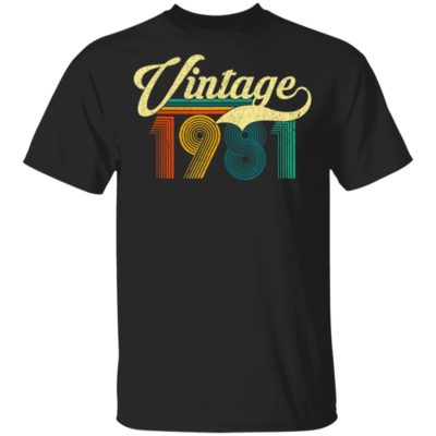 1981 Vintage Retro 39th Birthday T-Shirt Long Sleeve Hoodie