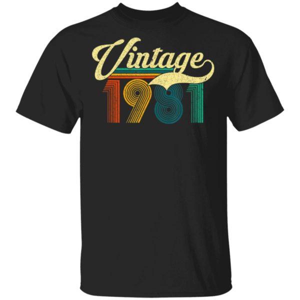 1981 Vintage Retro 39th Birthday T-Shirt Long Sleeve Hoodie