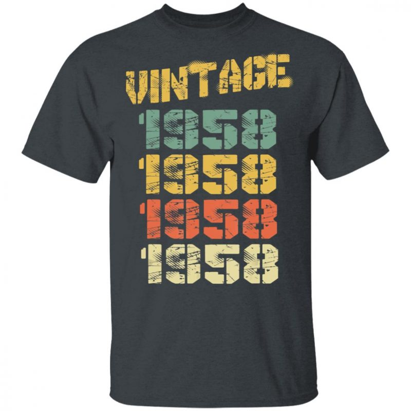 1958 Vintage 62nd Birthday T-Shirt Long Sleeve Hoodie