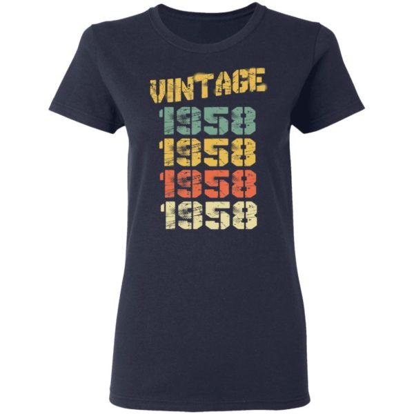 1958 Vintage 62nd Birthday T-Shirt Long Sleeve Hoodie