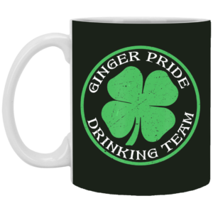 Ginger Pride Drinking Team Beer St Patrick's Day Mug, Necklace