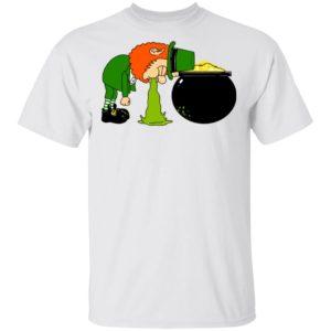 Throw Up Patrick's Day Shirt Raglan Hoodie