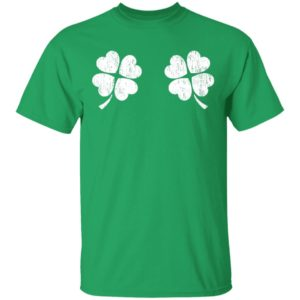 Shamrock Boobs for Retro St. Patrick's Day Shirt Long Sleeve Hoodie