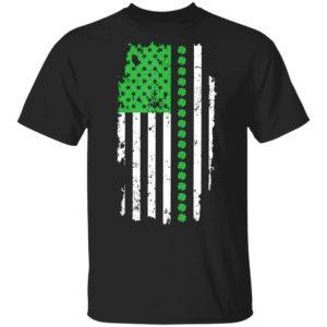 St. Patrick's Day Irish American Flag Shirt Long Sleeve Hoodie