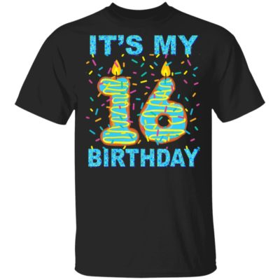 It's my 16th Birthday Funny Sweet donut 16 yrs old T-Shirt