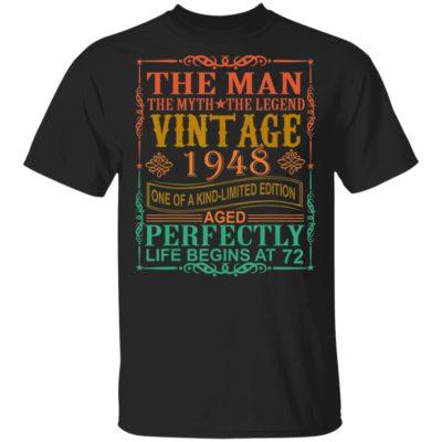 The Man Myth Legend Vintage 1948,72 years old T-Shirt