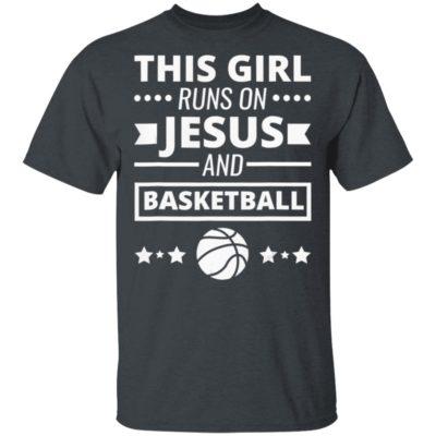 This Girl Runs On Jesus And Basketball Christian Shirt Long Sleeve Hoodie