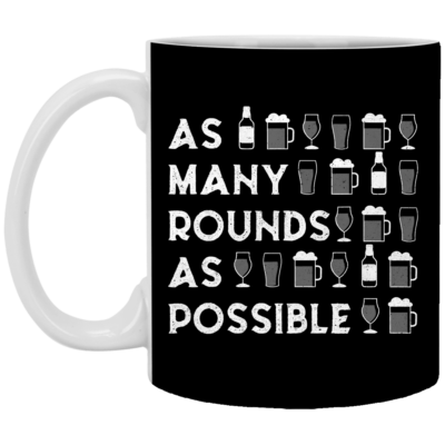 As Many Rounds As Possible St. Patrick's Day Beer Lover Mug, Necklace